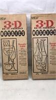Vintage 3D Decorative DIY Mosaic Kits 2 kits by