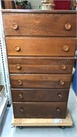 Wood Chest of Drawers 6 drawers