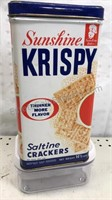 Sunshine Krispy Saltine Cracker Tin Container 4