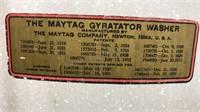 Antique Maytag Gyratator Electric Wringer Washer