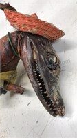 """Authentic Alligator Tourist 9"""" Tall with camera"""