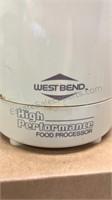West Bend High Performance Food Processor