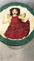 Lot of Vintage Holiday Cookie Tins 5pcs 1pc