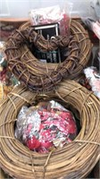 Lot of Craft Supplies Small wreaths potpourri