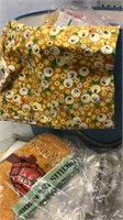 Vintage Sewing Basket with contents 12x12""