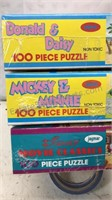 Lot of 4  Disney 100pc Jigsaw Puzzles 3 unopened