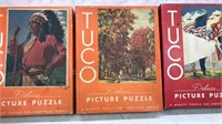 Lot of 3 Antique Tuco Deluxe Picture Puzzles