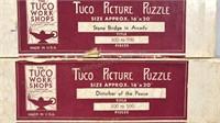 Lot of 2 Antique Tuco Picture Puzzles