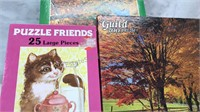 Lot of 3 Vintage Jigsaw Puzzles