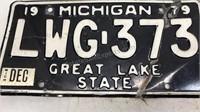 Matching Set 1978 Michigan License Plates