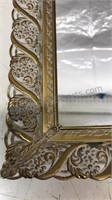 "Vintage Mirrored Vanity Tray 15x10x2"""