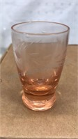 Vintage Cordial Glasses Colored Glass Set of 6