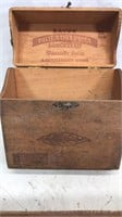 Antique Wooden Cigar Box with 50+ Lot of Vintage