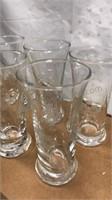 Set of 6 Etched Drinking Glasses Barware Set 4