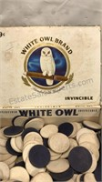 White Owl Cigar Box with Vintage Playing cards
