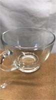 "12 Clear Glass Tea / Coffee Cups 2 1/2"" tall 3"