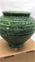 Vintage Hull Pottery Ribbed Beehive Vase Art Deco