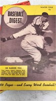 Lot of 5 1940's Baseball Digest Magazines
