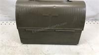 "Vintage Metal Lunch Box 10x5x8"" Plastic handle"