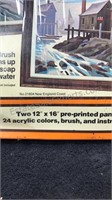 Lot of 2 Craft Master Vintage Paint By Number