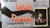 Lot of 3 Craft Master Vintage Velvet Painting Sets
