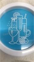 "Vintage Plastic Coaster Set of 4 3 1/2"" Diameter"