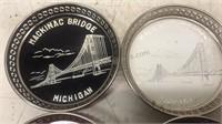 Vintage Mackinac Bridge Michigan Coaster Set of 4