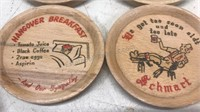 Vintage Wooden Novelty Coaster Set 4 pcs