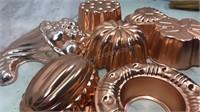 Lot of 7 Metal Desert Molds