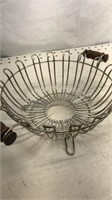 Lot of 3 Kitchen Wire Baskets 2 Hanging 1 new in