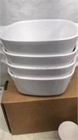 Lot of 8 White Baking Dishes that include