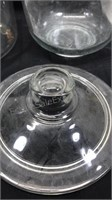 """Lot of 2 Glassware 1 8x6"""" Container with Lid 1"""