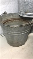 """Lot of 4 Galvanized Buckets 10x10"""" with handles"""