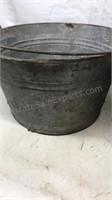 "2 Galvanized Buckets with handles 9x14"""