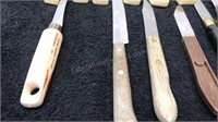 Lot of 18pcs Kitchen Knives Mix of Wood and