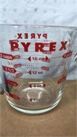 Lot of 2 Pyrex Measuring Cups Matching Set 1 Cup