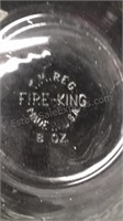 Vintage Fire King Oven Ware Clear Glass 9pc Lot