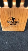 Revere Ware 13pc Cutlery Set and Wooden Block