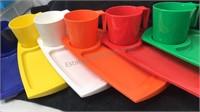 Set of 6-1985 Vintage Rainbow Fremware Plastic