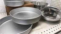 Lot of Aluminum Cake Pans 9pcs