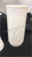 Vintage Lot of Milk Glass Vases, Planters & Shell