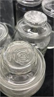 Lot of Glass Containers with Lids 9pcs