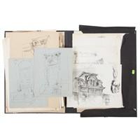 Jacob Glushakow. Group of loose drawings