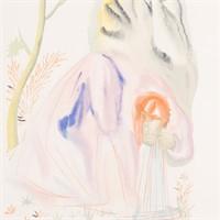 """Salvador Dali.  """"The Source,"""" woodblock"""
