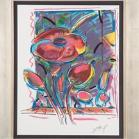 Peter Max. Psychedelic Flowers, serigraph
