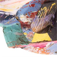 """Sam Gilliam. """"In the Making"""", mixed media collage"""