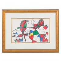 """Joan Miro. """"Dolphin and Parrot,"""" lithograph"""