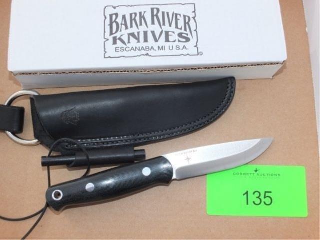 BARK RIVER KNIVES - BUSHCRAFTER, CPM 3V, BLACK CAN | Corbett