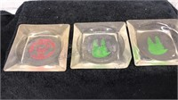 Lot of 10 Vintage Glass Ash Trays