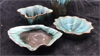 Lot of 4 Ceramic Planters and Dishes